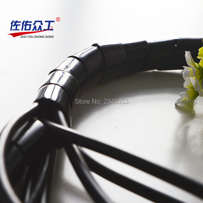 25mm cable manage covered wire winding pipe line computer receive cable winding pipe receive the power cord cable winding device