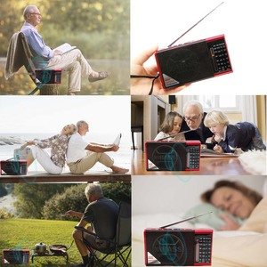 Image 3 - JINSERTA Mini FM AM SW Radio Receiver Wireless Bluetooth Speaker Support TF Card U Disk Play with 3.5mm Headphone Jack