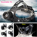 2000Lumens CREE XML T6 LED 3 Mode Headlamp Head Light Lamp Zoomable adjust LED Headlight for Flashlight Hiking Camping