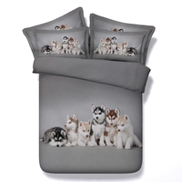 Husky Dogs print comforter bedding set bedspread twin full queen king cal king size duvet covers bedlinen Children's babys Boys
