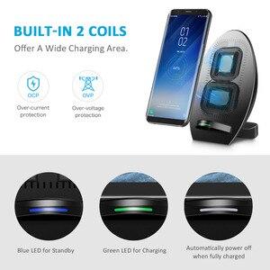 Image 2 - CHOETECH Беспроводное зарядное устройство для Samsung Galaxy S8 быстрое Qi Беспроводное зарядное устройство с охлаждающим вентилятором QI Беспроводная зарядная подставка для iPhone