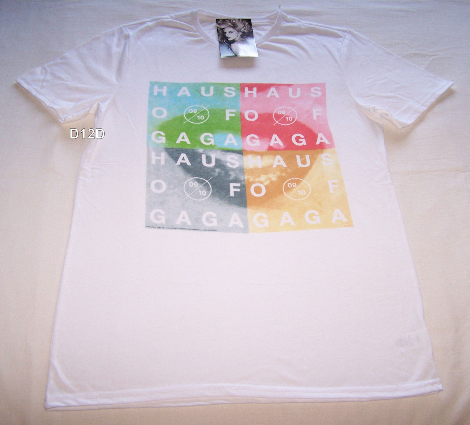 Lady Gaga Haus Of Gaga Mens White Short Sleeve T Shirt Size XS New