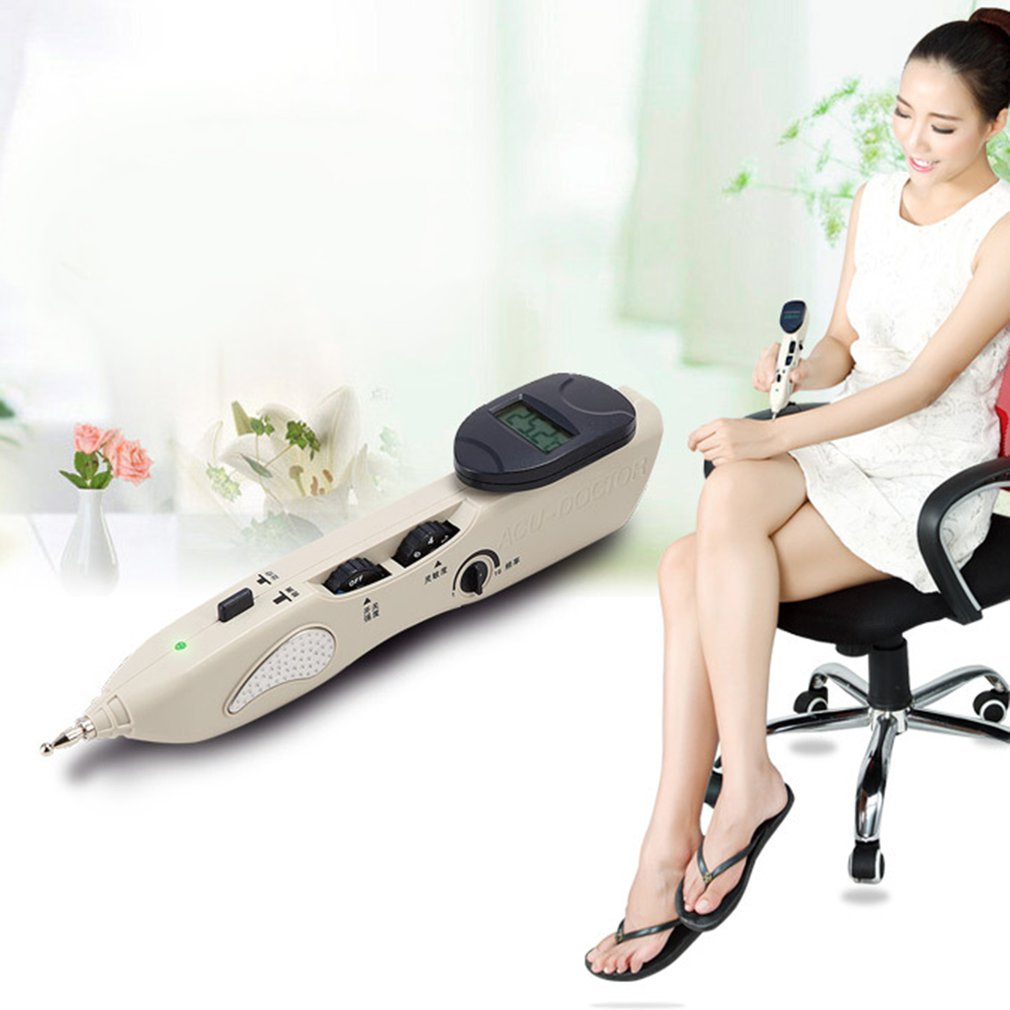 LCD Electric Acupuncture Massager Meridian Pen Health Care Monitor Electric Meridians Laser Acupuncture Magnet Therapy