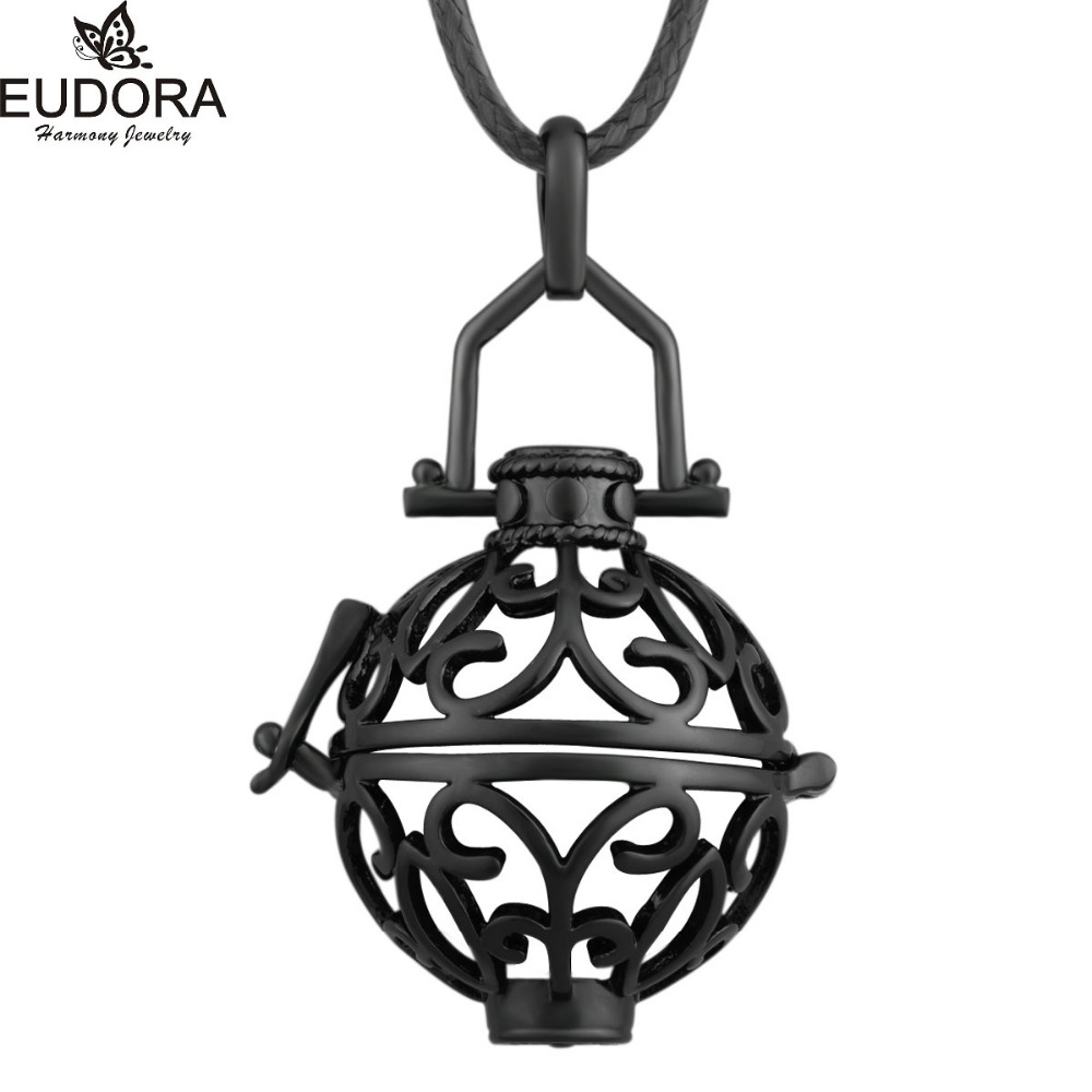 5 PCS Design De Mode Eudora Harmonie Balle Médaillon Cage fit 20mm Mexicain  Bola Pendentif Pour Les Femmes Enceintes Noir Pistolet couleur Bijoux b8dc576ff66