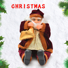 Free Shipping christmas 2014 decoration supplies santa claus,christmas trumpet,christmas ornament,natal