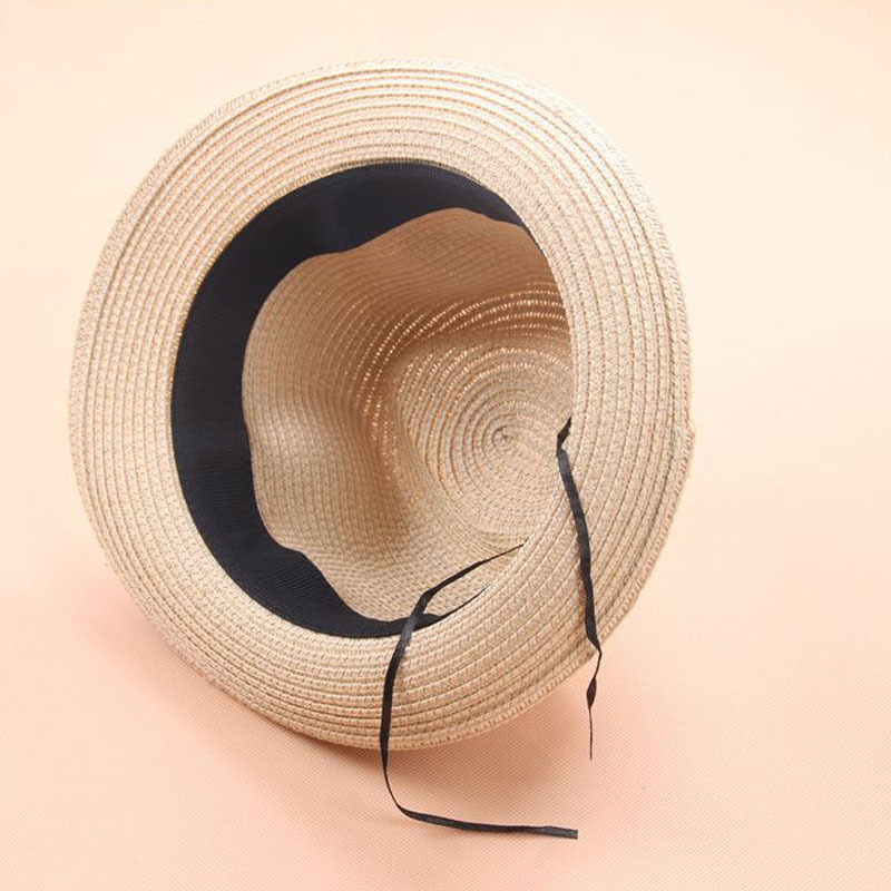 Fashion parent child sun hat children sun hats hand made straw beach hat casual summer cap in Hats Caps from Mother Kids