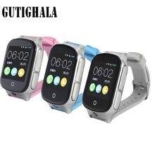 Gutighala moda Inteligente relógio Crianças Relógio de Pulso A19 3g WIFI GPS Locator Rastreador Smartwatch Relógio Bebê Com Câmera Para IOS android