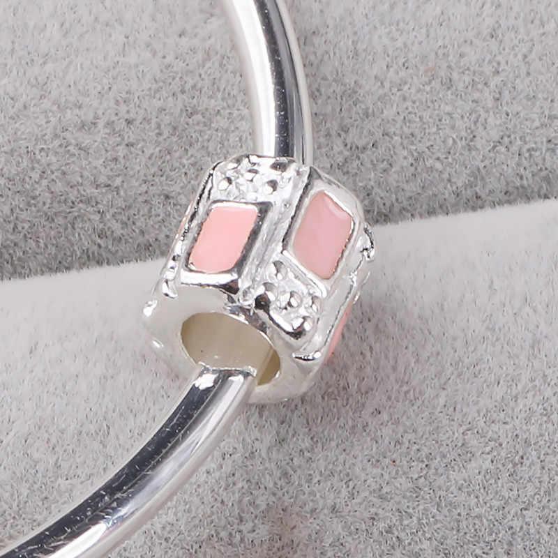 C-181 Couqcy Newest Fit Original Charm Bracelet Silver Color DIY Berloque Enamel Orchid Daisy Flower Heart Bead Jewelry Maki