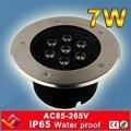 7*1 W lâmpada LED luz subterrânea enterrado chão recesso lâmpadas uplighter chão IP65 Paisagem iluminação da escada AC8-265V
