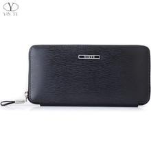 YINTE 2016 Men s Clutch Wallets Leather Men Purse Zipper Wallet Clutch Wrist Bags Phone Wallets