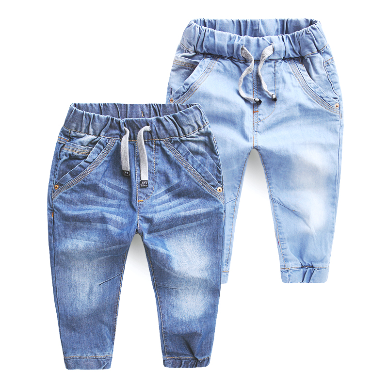 boy jeans kids Autumn 2017 new children's clothing jeans blue trousers casual pants Baby Children Pants jeans skinny boy 2-7T