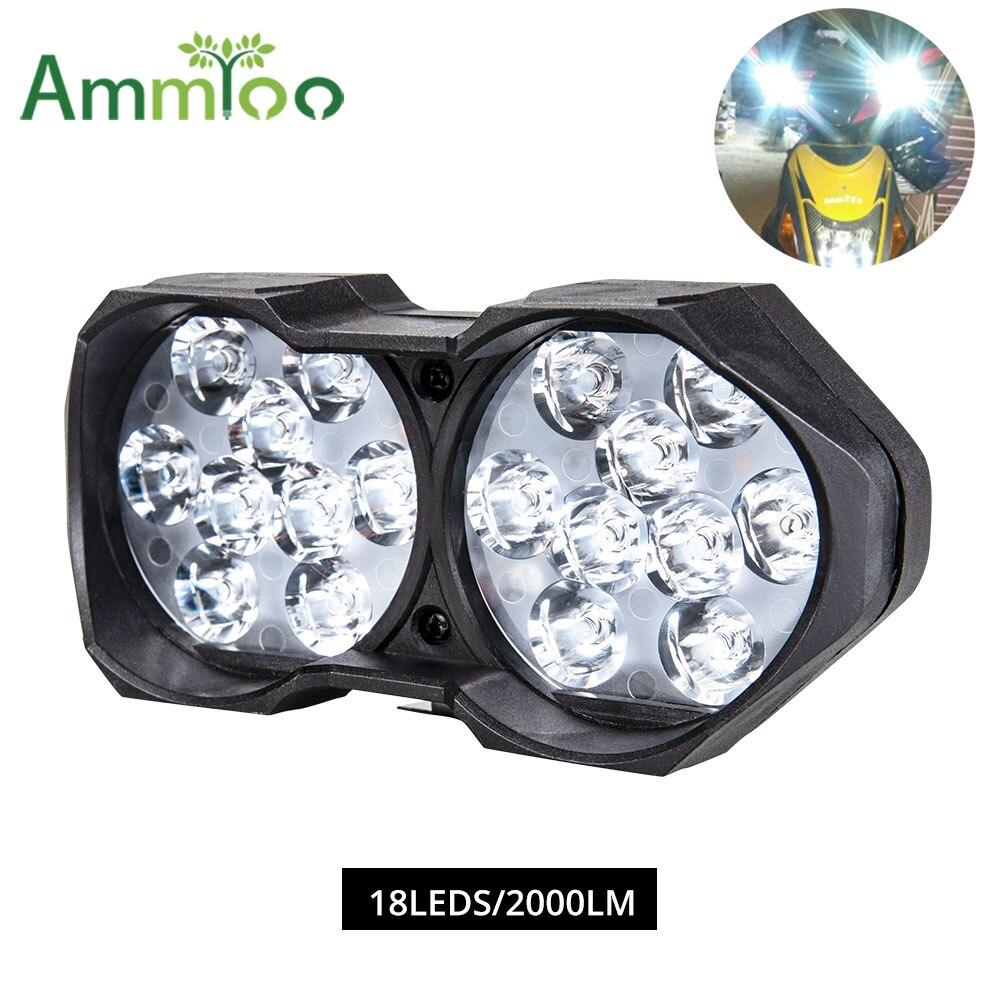 12V-85V 9W Super Bright LED Spot Light Head Lampada Motor Bike Auto moto