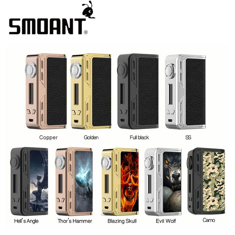 100% Original 218W Smoant Charon TC Box Charon 218 Powered by Dual 18650 Battery Electronic cigarette Vape Mod No Battery electronic cigarette kits smoant charon tc 218 rdta kit vaporizer vape box mod e cigarette hookah with battlestar rdta x2077