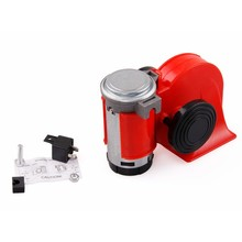 Motorcycle car horn 12V 136db snail double sound loud compact truck ship with air pump