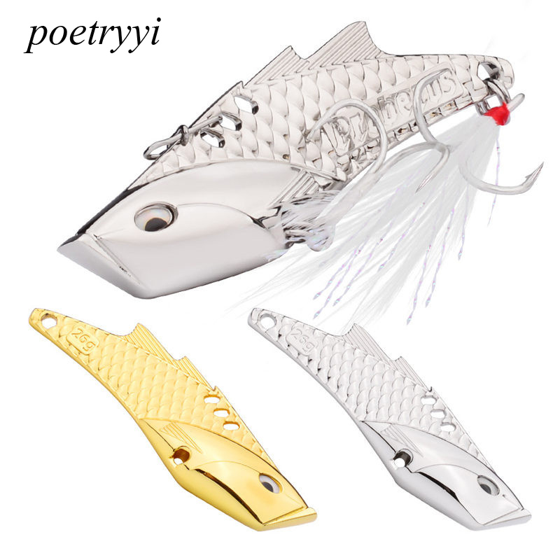 POETRYYI 1pcs Fishing Lures Wobbler Spinner Baits Spoons Artificial Bass Hard Sequin Paillette Metal Steel Hook Tackle Lures P30 in Fishing Lures from Sports Entertainment