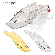 POETRYYI 1pcs Fishing Lures Wobbler Spinner Baits Spoons Artificial Bass Hard Sequin Paillette Metal Steel Hook Tackle P30