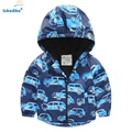 Baby Boy's Coat Spring 2017 WindProof Thicken Cartoon Car Children Outwear Toddler Boys Coats Jacket Boys Clothes Hooded T674