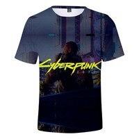 2019 Cyberpunk 2077 t shirt men/women/Children summer Short sleeve tshirt tops mens clothes Boy girl tees