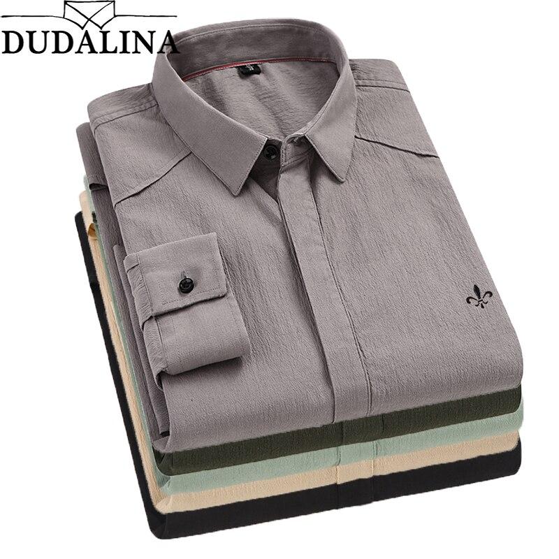 Dudalina nowy 2019 jesień wiosna męskie koszule z długim rękawem 100% bawełna sukienka koszula mężczyzna Retro Style Camiseta Masculina w Koszule nieformalne od Odzież męska na AliExpress - 11.11_Double 11Singles' Day 1