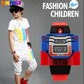 2018 neue Kinder Uhr Kreative Cartoon Robot Transformation Spielzeug LED Digitale Uhr kinder Uhren Jungen Mädchen Kind Uhren Handgelenk-in Kinderuhren aus Uhren bei