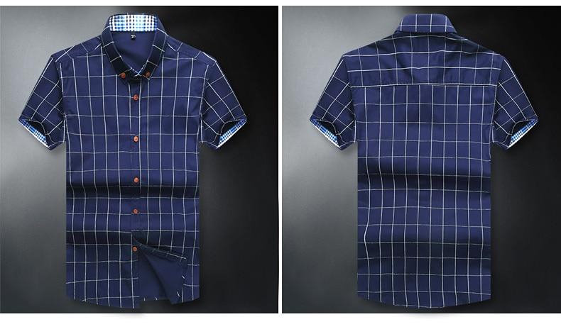 0319adec7ec HTB11Wt5QXXXXXbQaXXXq6xXFXXXW 2017 Brand New Fashion Summer Short Sleeve  Men s Shirt Men Plaid Shirt Cotton Casual Slim