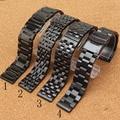 Preto Pulseiras De Metal pulseira de aço Inoxidável Assista bracelete 20 MM 22 MM Acessórios Fit Engrenagem S3 clássico pulseira de Relógio ELEGANTE