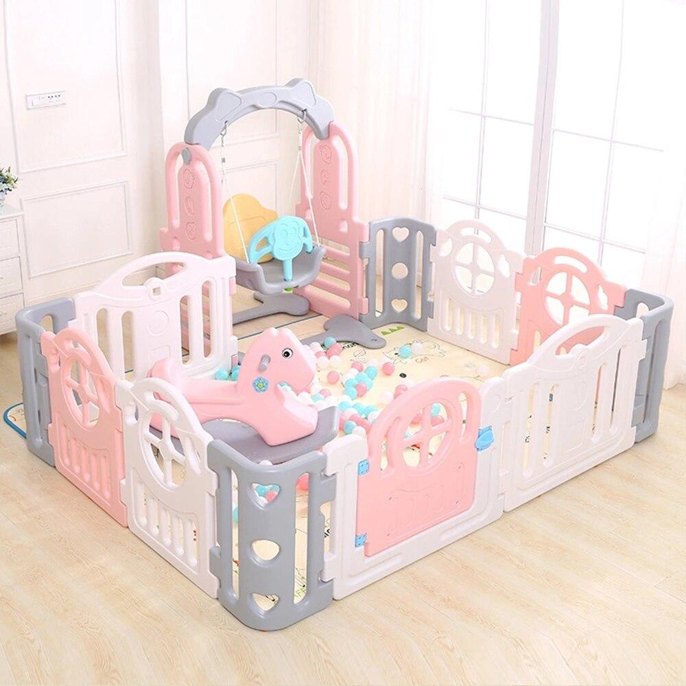 Siège de balançoire pour tout-petit intérieur-balançoire sécurisée extension de parc à jouer, parc approprié, parfait pour les nourrissons et les bébés - 4