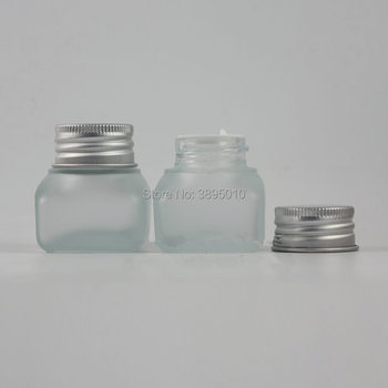 15g Frosted Glass Jar Empty Cream Jars Cosmetic Packaging Containers Pot With Lid For Hand cream mascara Container F676
