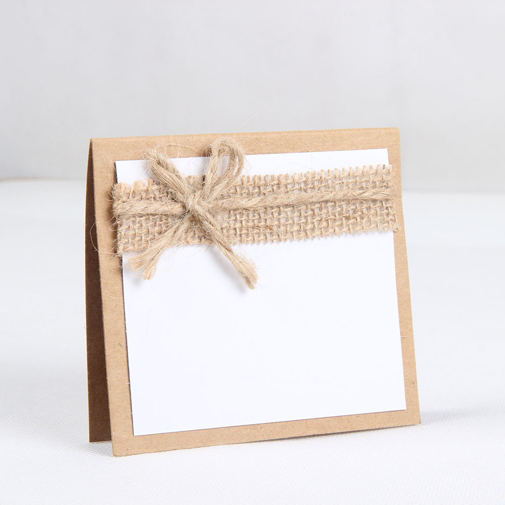 10pcs Burlap Guest Wedding Party Table Place Cards Table Name Seat Cards for Birthday Wedding Bridal Shower Party Decoration