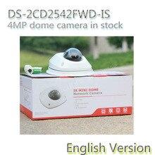 На складе бесплатная доставка английская версия DS-2CD2542FWD-IS Аудио 4MP WDR Купольная Сетевая Камера