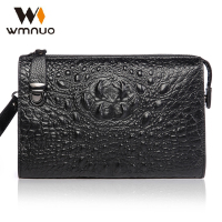 Wmnuo Genuine Leather Men S Handbags Crocodile Grain The New 2017 Envelope Soft Leather Cow Leather