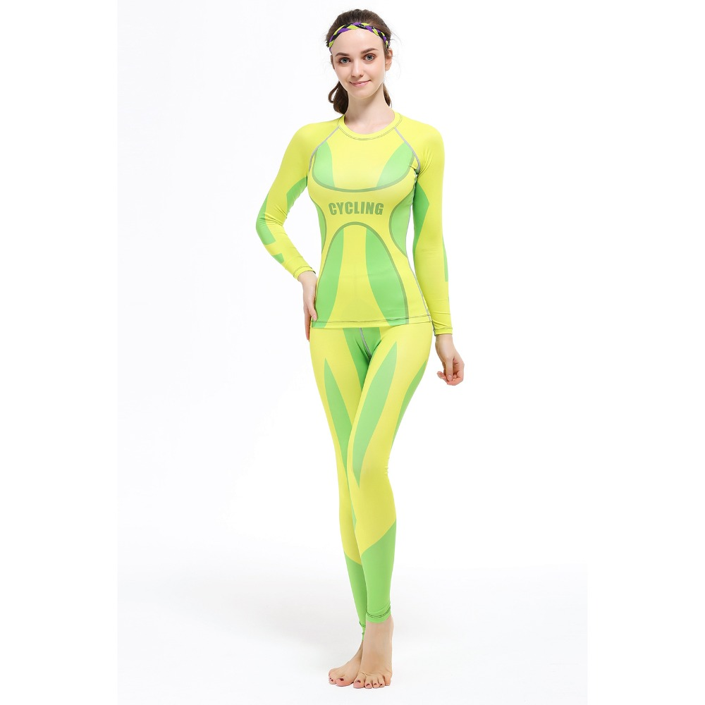 Fitness Running Sports Shirt Women Yoga Sets Two Pieces Breathable Suit Compression High Quality Quick-Drying Gym Sports Suits