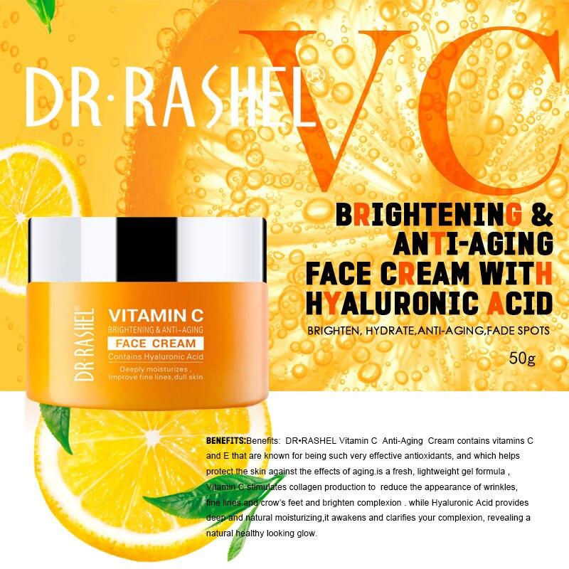 DR.RASHEL VC Moisturizing Cream Whitening,Moisturizing,Hydrating Day Cream For All Skin Type 50g