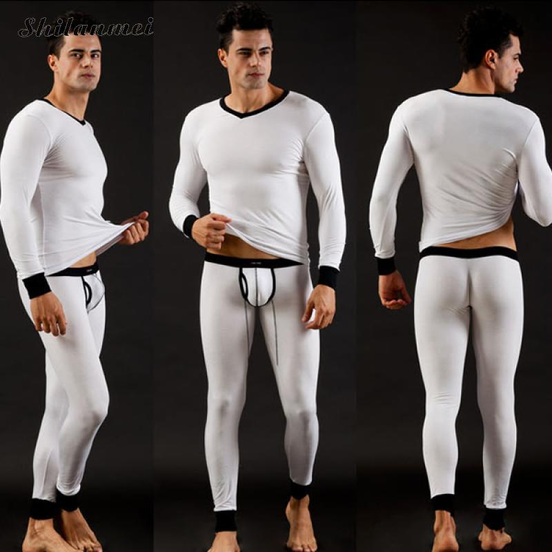 Winter Men Modal Thermal Warm Underwear Sets Long Johns Sets Thermos Termica Cueca Pajamas Mens Sexy Tights Lange Unterhosen