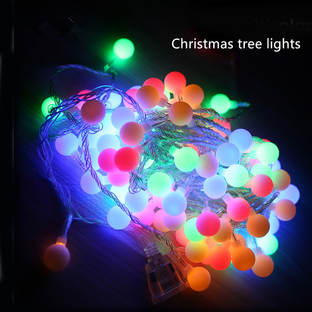 10M 20M 30M 50M  Globe String Lights LED Ball Fairy Light for Party Christmas Wedding New Year Indoor&outdoor Decoration