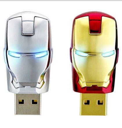 2016 Hot sale USB 2.0 usb flash drive Memory Drive Stick Real Capacity u disk 64GB 32GB 16GB 8GB 4GB pendrives Iron man S112