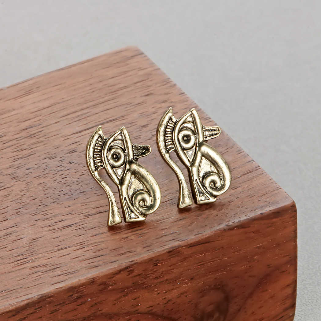 Todorova Ancient Egyptian Eye of Horus Male Earrings Eye of Ra Symbol Stud  Earrings Metal Pray Jewelry Gift Boucle d'oreille