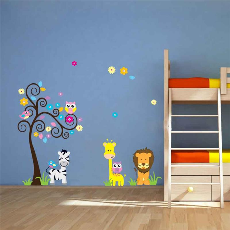 León jirafa cebra animal pegatinas de pared para niños decoración de ...
