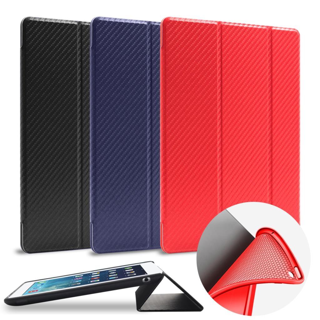 For Apple Ipad Pro 9.7 Case Carbon Fiber Slim Flip Folio Silicon Smart Cover Auto Sleep/Wake For Ipad Pro 9.7 Inch Case