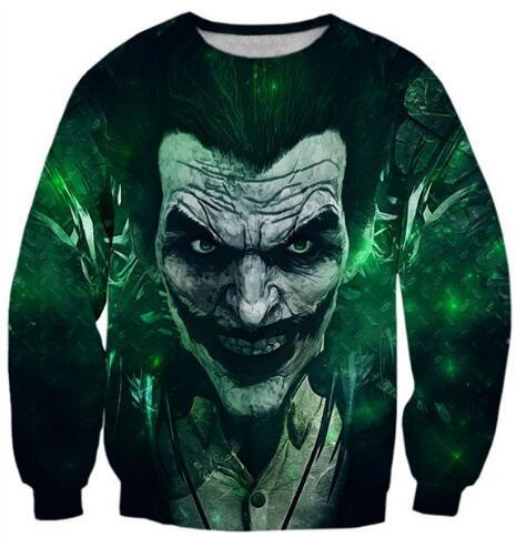 Joker Paparazzi Sweatshirt Casual Suicide Squad Crewneck Joker Vs Batman Jumper Hoodies Hipster Outfits Unisex Tops Oversize