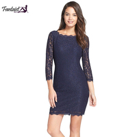 Fantaist Summer Dress Women Elegant Floral Lace Dress High Quality Sexy Bodycon Open Back Pencil Full