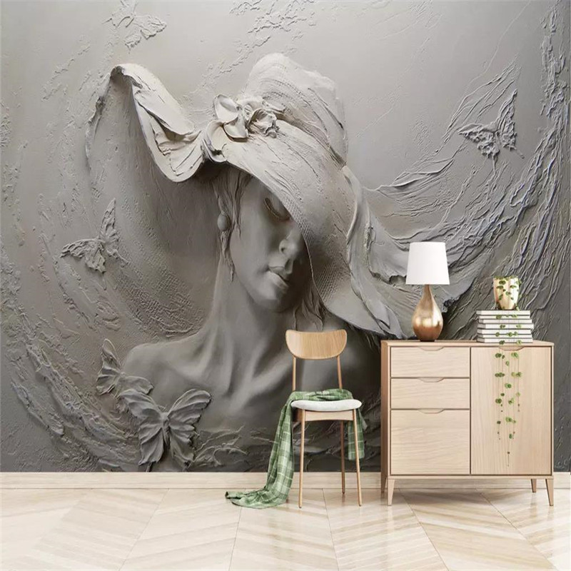 3d stereo wallpaper embossed beauty background wall professional production murals custom photo
