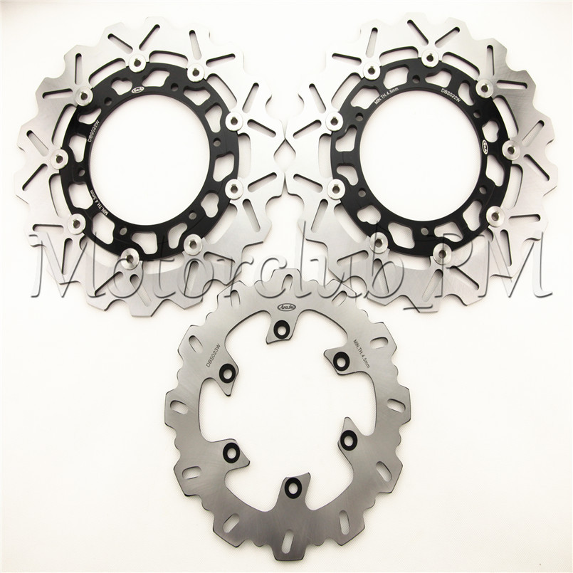 Motorcycle Front & Rear Brake Disc Set Rotors Pats For Yamaha YZF R1 1998 1999 2000 2001 XJ N 1998-2003 Motorbike Accessories motorcycle part front rear brake disc rotor for yamaha yzf r6 2003 2004 2005 yzfr6 03 04 05 black color