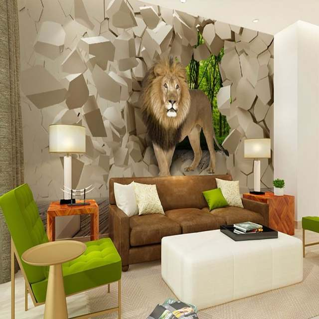 Placeholder Beibehang Murales Stone Lion Wall Background Graphic Wallpaper For Boys Room Wallpaper 3d Wallpaper Wallpapers Home