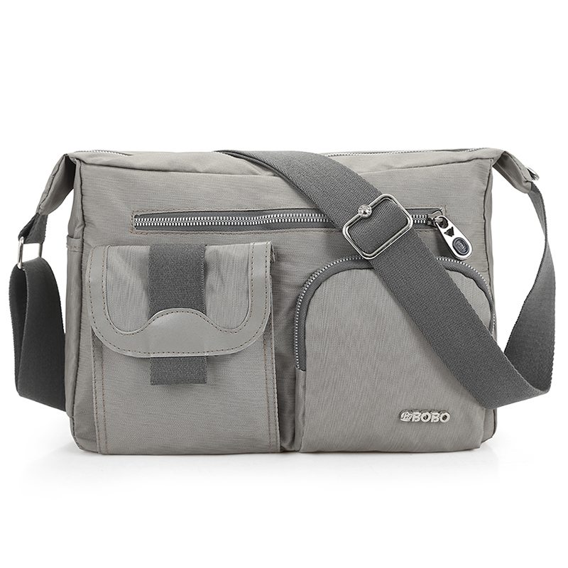 New Light Weight Fashion Mens Shoulder Bag High Quality Vintage Nylon Messenger Bag Korean Style Cool Women Waterproof Handbag
