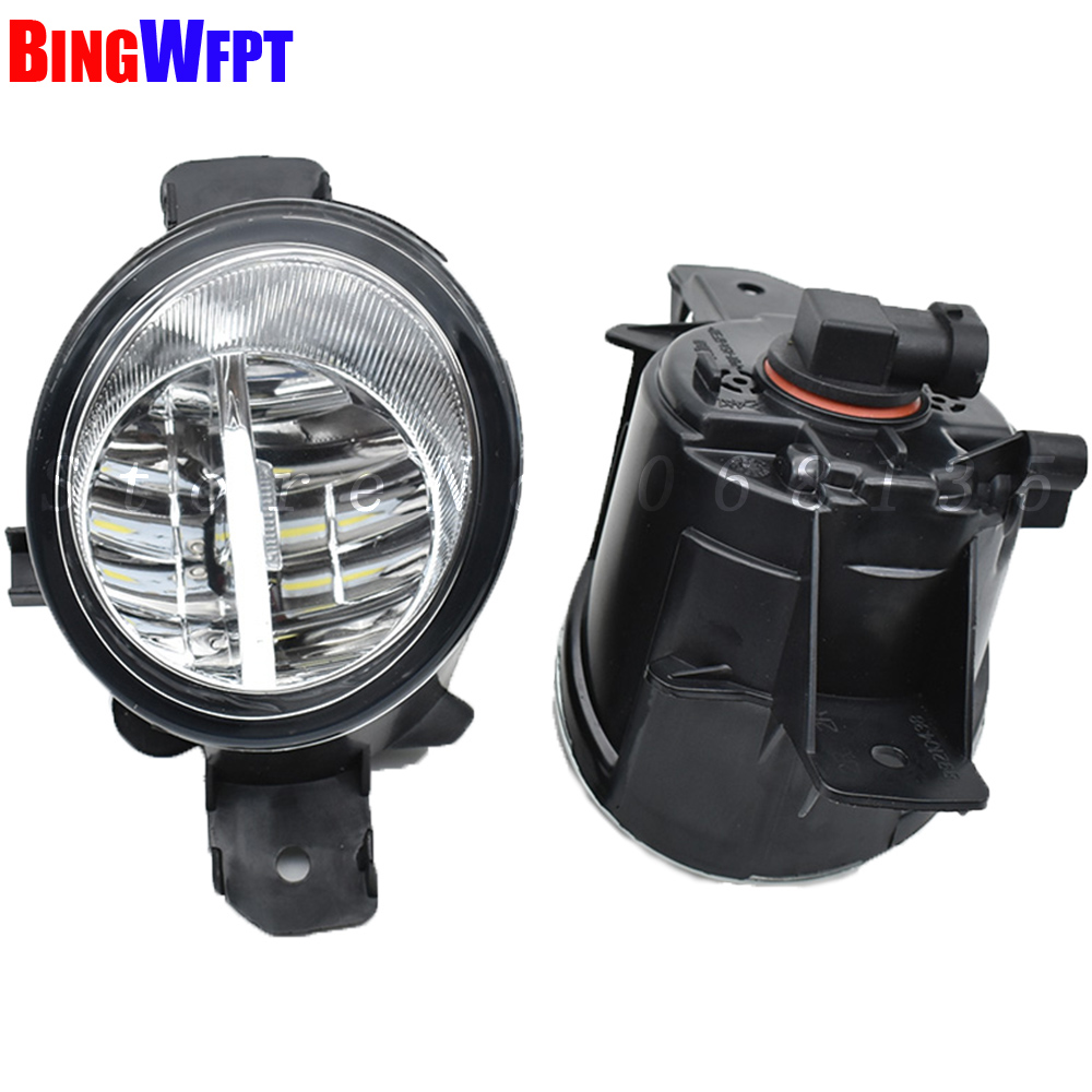 NEW Devil Eyes <font><b>LED</b></font> / Halogen Fog LIGHT Lights drl Refit 55W For <font><b>Renault</b></font> CLIO LAGUNA ESPACE <font><b>MODUS</b></font> GRAND <font><b>MODUS</b></font> 1998-2013 image