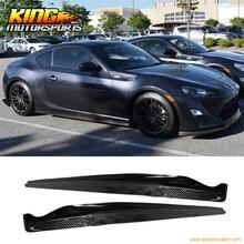 Fit For 12 15 Subaru BRZ Scion FR S GT86 CS Style Side Skirts Carbon Fiber