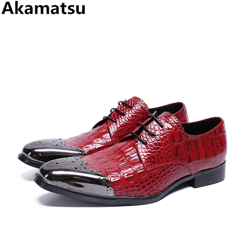 Sapato social masculino red genuine leather dress wedding oxford shoes for men metallic office designer shoes crocodile loafers zobairou sapato social oxford shoes for men genuine leather gold dress shoes men flats spiked loafers wedding shoes