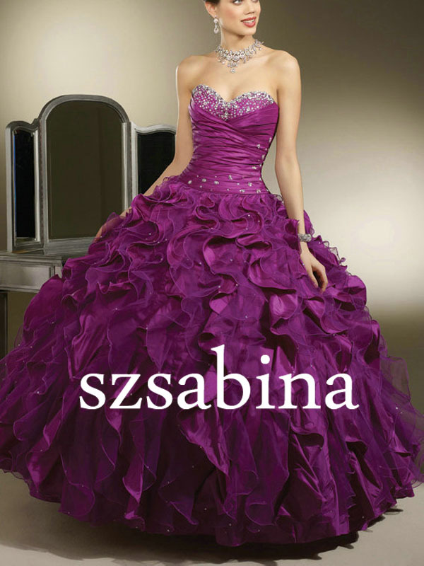 Sh0446 Royal Purple Wedding Dress Bling Wedding Dresses Ball Gown-in ...