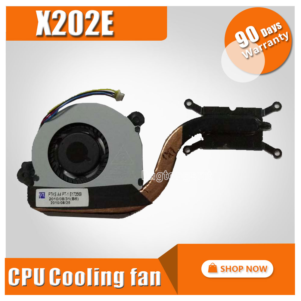 For ASUS VivoBook X202E S200E X201E Q200E X201EP X201EV Laptop Heatsink Assembly Radiator Cooler Cooling Fan CPU Fan Tested 2200rpm cpu quiet fan cooler cooling heatsink for intel lga775 1155 amd am2 3 l059 new hot